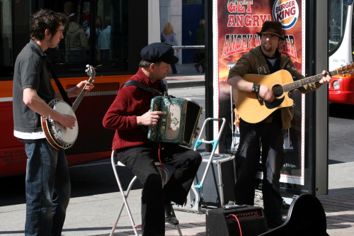 Buskers on Patrick Street